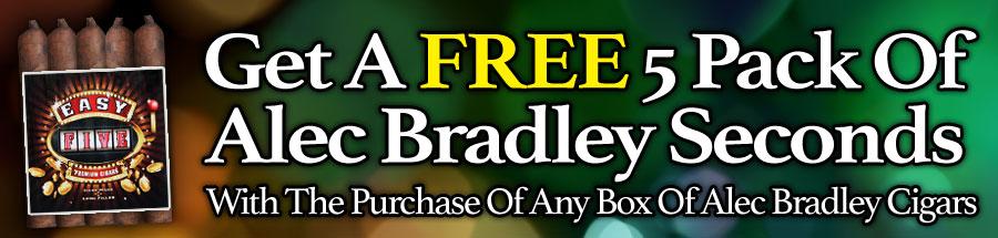 5 Alec Bradley Seconds for Free