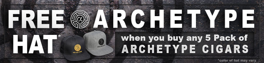 Get a FREE Archetype Hat With The Purchase of any 5 Pack of Archetype Cigars!