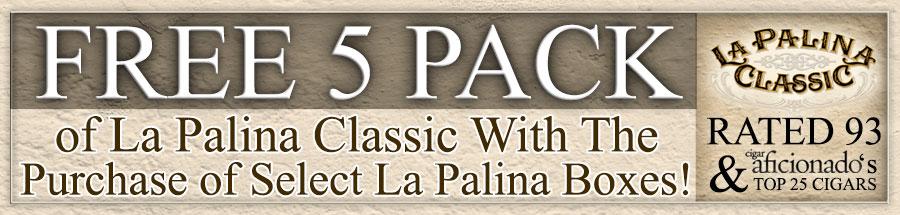 Free La Palina Classic Natural Robusto 5 Pack