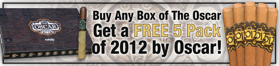 Buy Any Box of The Oscar Get a FREE 5 Pack of 2012 by Oscar!