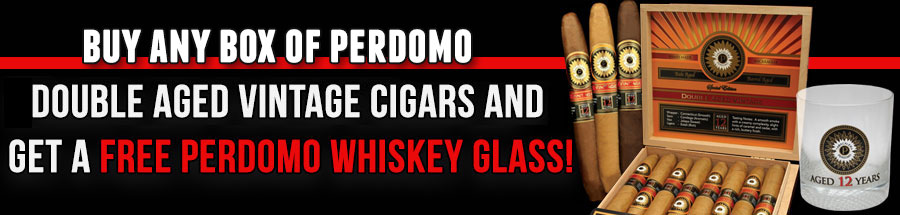 Free Perdomo Whiskey Glass