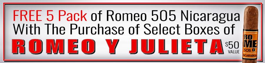 FREE 5 Pack of Romeo 505 Nicaragua Toro! A $50 Value!