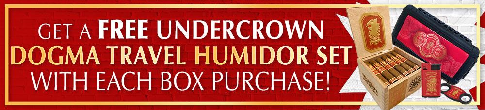 Free Dogma Travel Humidor Set With Undercrown Sun Grown Dojo Dogma Boxes!